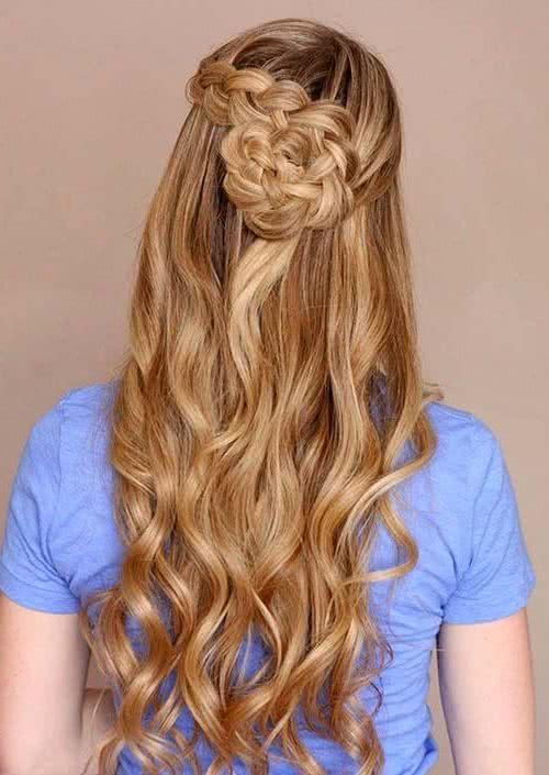 Peinados ondas en las puntas